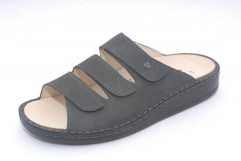 8fd40731f64c57 FinnComfort Herren Pantolette KORFU darkgrey - Produkte der Gesundheit