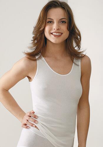 Medima Lingerie Damen-Hemd ohne Arm Air to Wear weiß