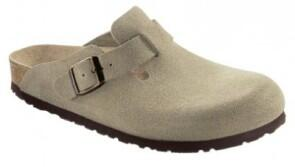 Birkenstock  - BOSTON  Velourleder - Taupe