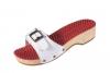 Berkemann Noppen-Sandale mit Absatz  weiß