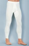 Medima Classic Herrenhose  lang mit Eingriff 20% Angora, weiß