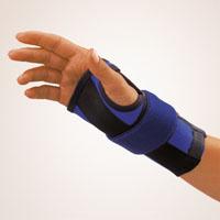 Bort Handgelenkstütze mit Alu-Schiene und Band blau Rechts