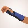 Bort Arm- und Handgelenkstütze mit Alu-Schiene  blau Links