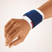Handgelenkbandage Bort Stabilo weiß mit blauem Band