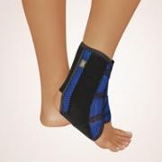 Knöchelstütze Stabilo mit Klettband blau