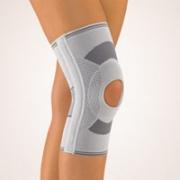 Kniebandage mit Patella-Aussparung silber