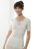 Medima Classic  Damen-Hemd 1/4 Arm mit Spitze 20%Angora, weiß