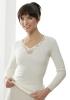 Medima Classic  Damen-Hemd 1/1 Arm mit Spitze 20%  Angora, weiß
