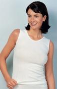 Medima Classic  Damen-Hemd ohne Arm 20%  Angora weiß