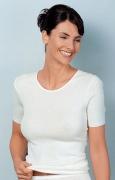 Medima Classic  Damen-Hemd 1/4 Arm 20%  Angora weiß
