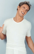 Medima Classic  Herren-Hemd 1/4 Arm 40% Angora, weiß