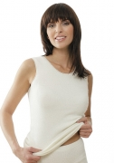 Medima Classic  Damen-Hemd ohne Arm  100%  Angora weiß