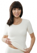 Medima Classic  Damen-Hemd 1/4 Arm  100%  Angora weiß