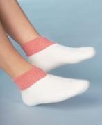 Medima Classic Fußwärmer mit extra weitem Bündchen, weiß/rose