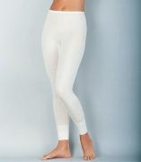 Medima Classic  Damen-Hose lang Plus Seide weiß