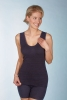 Medima  Classic Damen-Hemd  ohne Arm Plus Seide schwarz