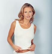 Medima  Classic  Damen-Hemd ohne Arm Plus Seide weiß