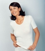 Medima Classic  Damen-Hemd 1/4 Arm Plus Seide weiß