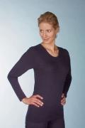Medima  Classic Damen-Hemd 1/1 Arm Plus Seide schwarz