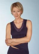 Medima Classic Damen-Hemd ohne Arm Plus Seide schwarz mit Spitze