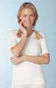 Medima Lingerie Kaschmir/Seide Damen-Hemd 1/4 Arm  weiß