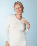 Medima Lingerie Kaschmir/Seide Damen-Hemd 1/1 Arm  weiß