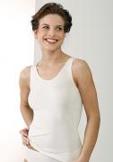 Medima Lingerie  Damen-Hemd ohne Arm 100% Seide weiß