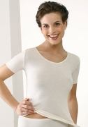 Medima  Lingerie  Damen-Hemd 1/4 Arm 100% Seide weiß