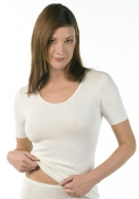 Medima Classic  Damen-Hemd 1/4 Arm Angora/Baumwolle  weiß