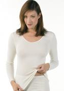 Medima Classic  Damen-Hemd 1/1 Arm Angora/Baumwolle weiß