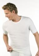 Medima Classic Herren-Hemd 1/4 Arm Angora/Baumwolle weiß