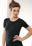 Medima Lingerie Damen-T-Shirt 1/4 Arm schwarz