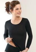 Medima Lingerie Damen-T-Shirt 7/8 Arm schwarz