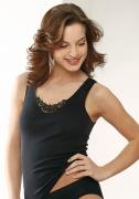 Medima Lingerie Damen-Vollachselhemd mit Spitze schwarz