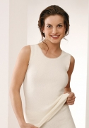 Medima  Classic  Damen-Hemd ohne Arm  50%  Angora weiß