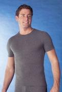 Medima  Antisept Herren-Hemd 1/4 Arm  unisex, asphalt