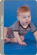 Medima Antisept  Baby-Body 1/4 Arm, blau-weiß geringelt