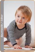 Medima Antisept Baby-Body 1/1 Arm, blau-weiß geringelt
