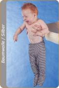 Medima Antisept Baby-Hose lang mit Fuß, blau-weiß geringelt