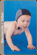Medima Antisept Baby-Mütze, blau-weiß geringelt