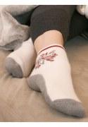 Medima Antisept Fußwärmer unisex, Stern grau/natur