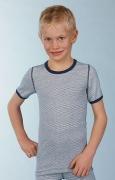 "Medima Classic little ""m"" Kinder Shirt 1/4 Arm  blau-weiß-geringelt"
