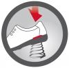 Berkemann Schockabsorbierende Zwischensohle für Berkemann Noppen-Sandale