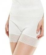Medima  Lingerie Damen-Schlüpfer mit Beinspitze 100% Seide weiß