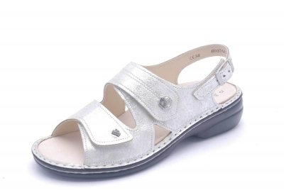 FinnComfort Damen-Sandale  MILOS argento