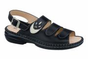 FinnComfort Sandale SALONIKI  schwarz/jasmin