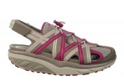 MBT Damenschuh Sandale Jasira 6 Trail Sandal  ClayGray/RedViolet