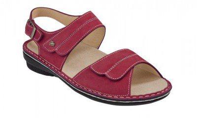 FinnComfort Damen-Sandale Barca Sandia Nubuk