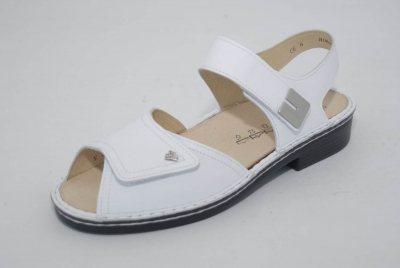 FinnComfort Damen-Sandale LUXOR weiss Nappa