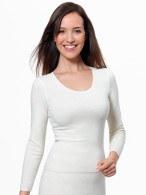 Medima Classic  Damen-Spencer 1/1 Arm 20% Angora weiß verkürztes Leibteil